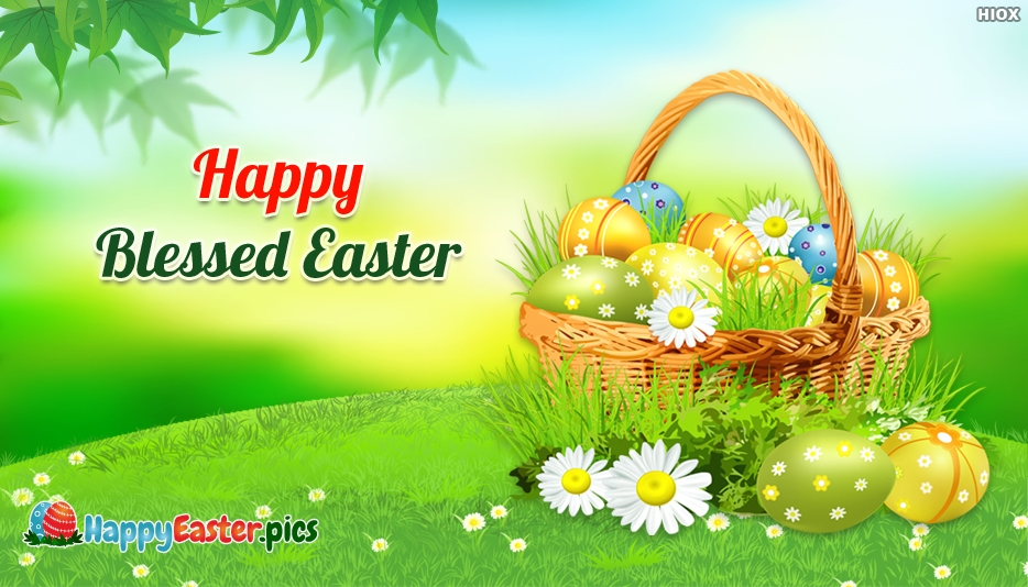Happy Blessed Easter - Happy Easter Clip Art Images
