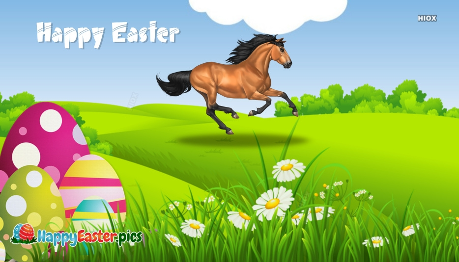 Happy Easter Horse Images, Pictures