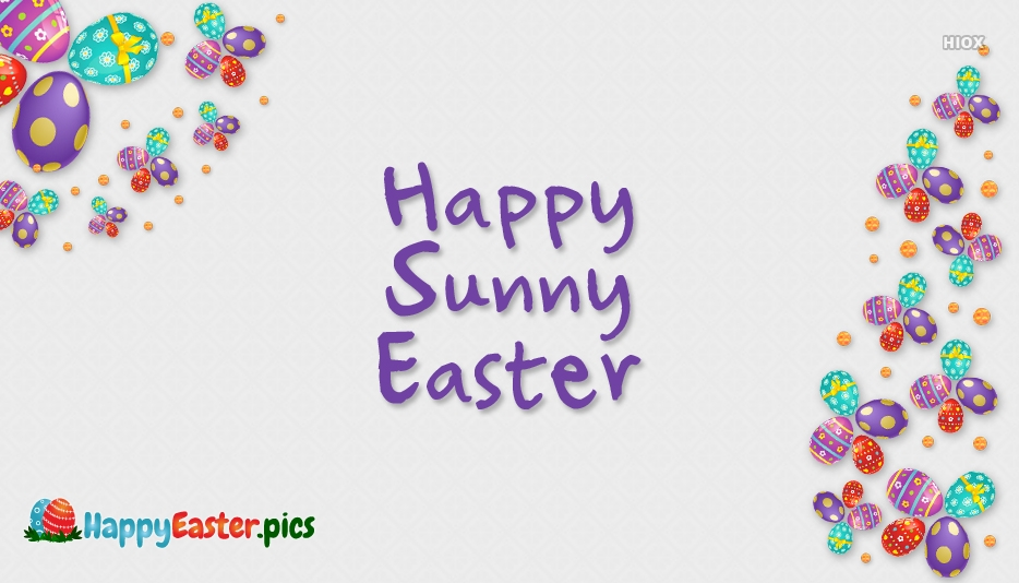 Happy Sunny Easter Image