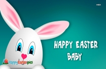 Happy Easter Baby Image