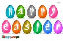 Happy Easter Eggs Greetings