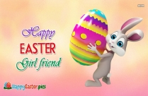 Happy Easter Girlfriend Image