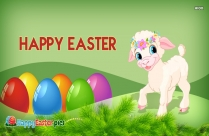 Happy Easter Lamb Image