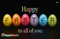 Happy Easter Everyone Message