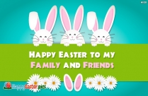 Happy Easter to My Family and Friends Image