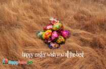 Happy Easter Wish You All The Best Message