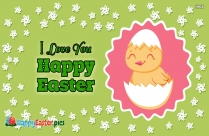 I Love You Happy Easter Photo